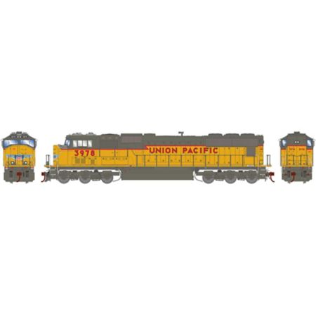 Athearn G70626 HO SD70M w/DCC & Sound,UP/Yellow ex SP w/PTC #3978 ATHG70626