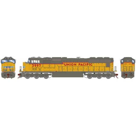 Athearn G70627 HO SD70M w/DCC & Sound,UP/Yellow ex SP w/PTC #3997 ATHG70627