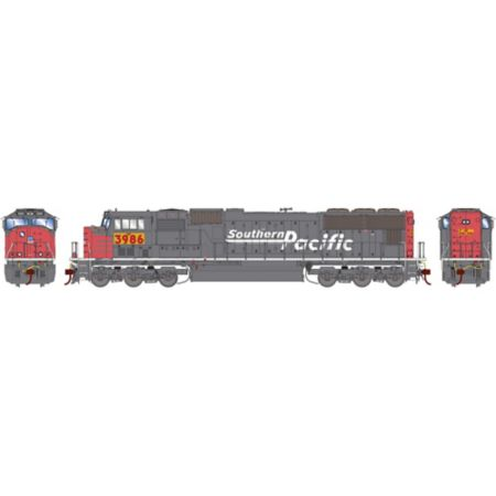 Athearn G70628 HO SD70M w/DCC & Sound,UP/Yellow ex SP w/PTC #3986 ATHG70628