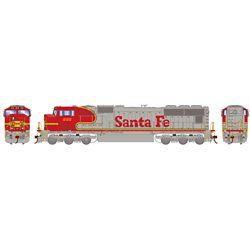 Athearn G70639 HO SD75M w/DCC & Sound Santa Fe/Warbonnet #222
