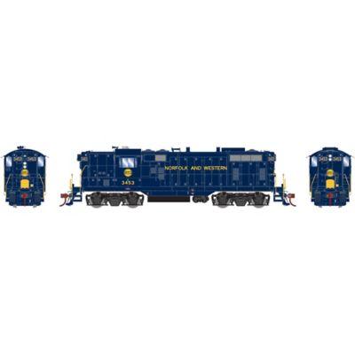 Athearn G78262 HO GP7 w/DCC & Sound N&W Ex Wabash #3453