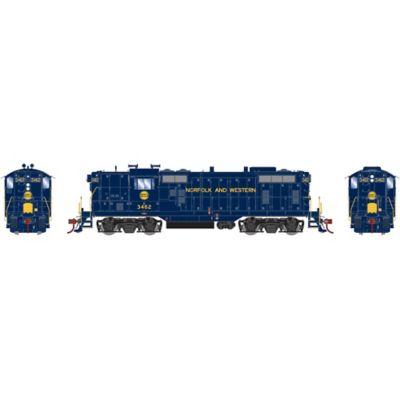 Athearn G78263 HO GP7 w/DCC & Sound N&W Ex Wabash #3462