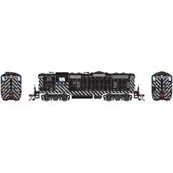 Athearn G82301 HO GP7 w/DCC & Sound Santa Fe SF/Zebra Stripe #2873