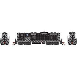 Athearn G82302 HO GP7B w/DCC & Sound Santa Fe SF Zebra Stripe #2792A
