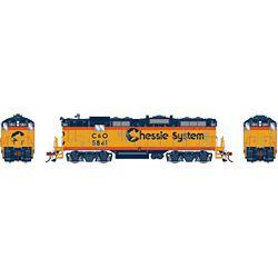 Athearn G82307 HO GP7 w/DCC & Sound Chessie/Chesapeake & Ohio C&O #5841
