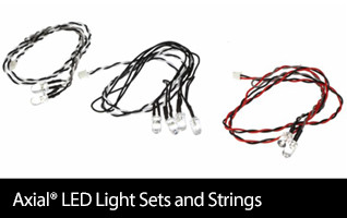Axial LED light sets and strings