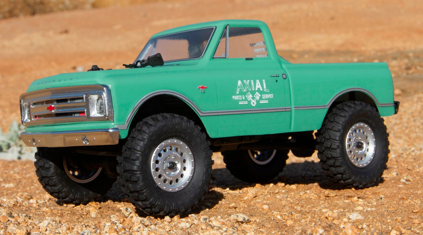 Image for 1/24 SCX24 1967 Chevrolet C10 4WD Truck Brushed RTR, Light Green from Horizon Hobby