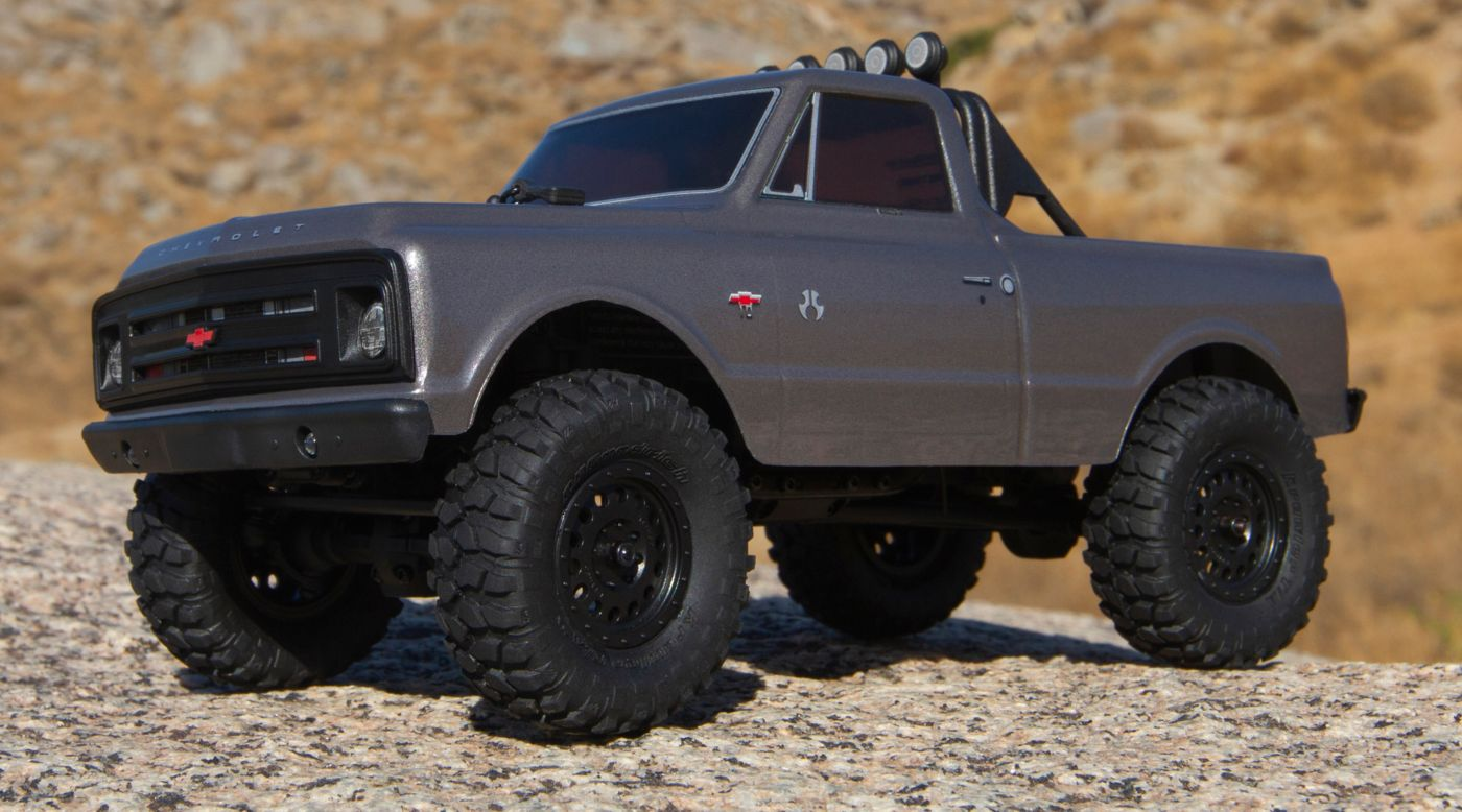 Image for 1/24 SCX24 1967 Chevrolet C10 4WD Truck Brushed RTR, Silver from HorizonHobby