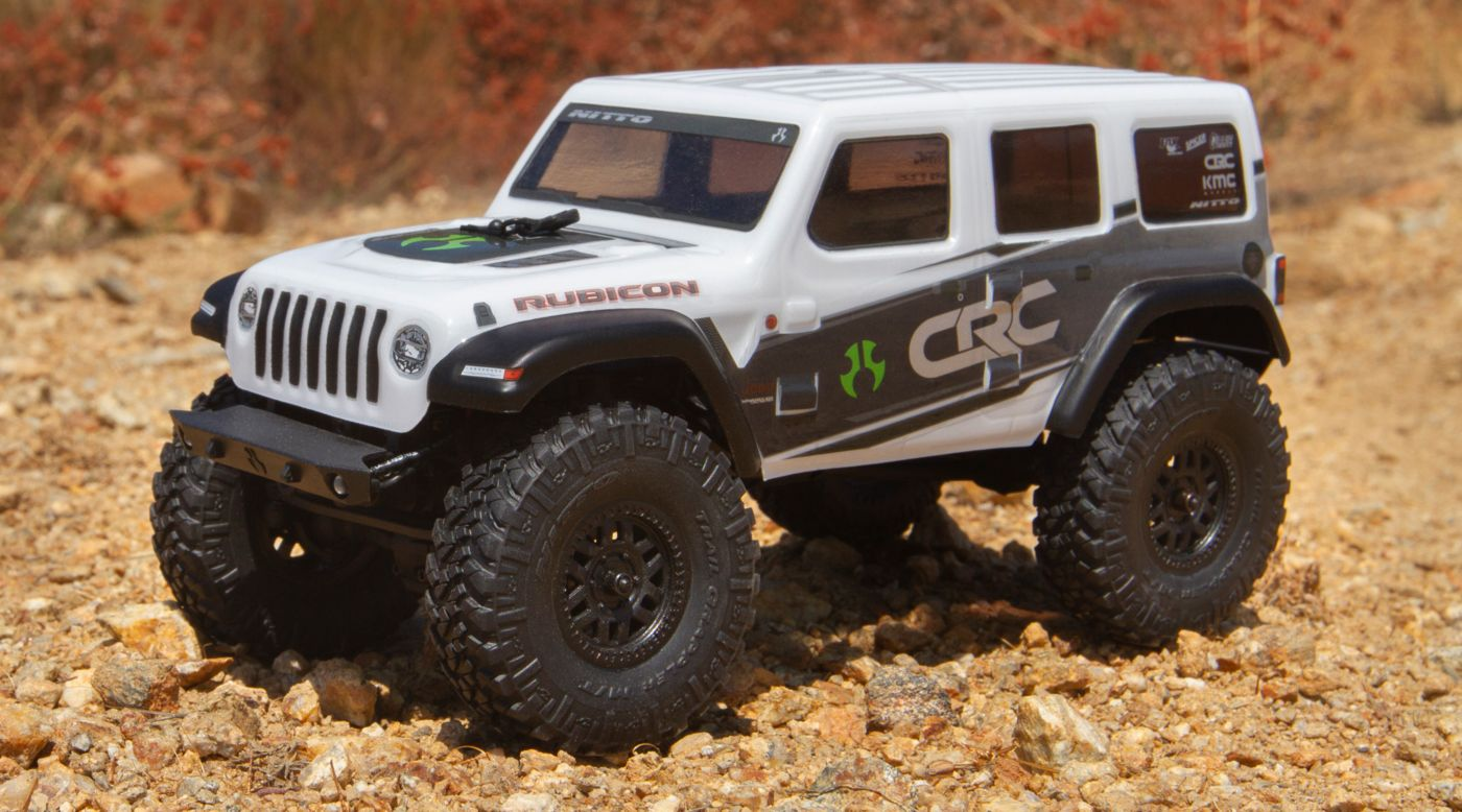 Image for 1/24 SCX24 2019 Jeep Wrangler JLU CRC Rock Crawler 4WD RTR, White from HorizonHobby
