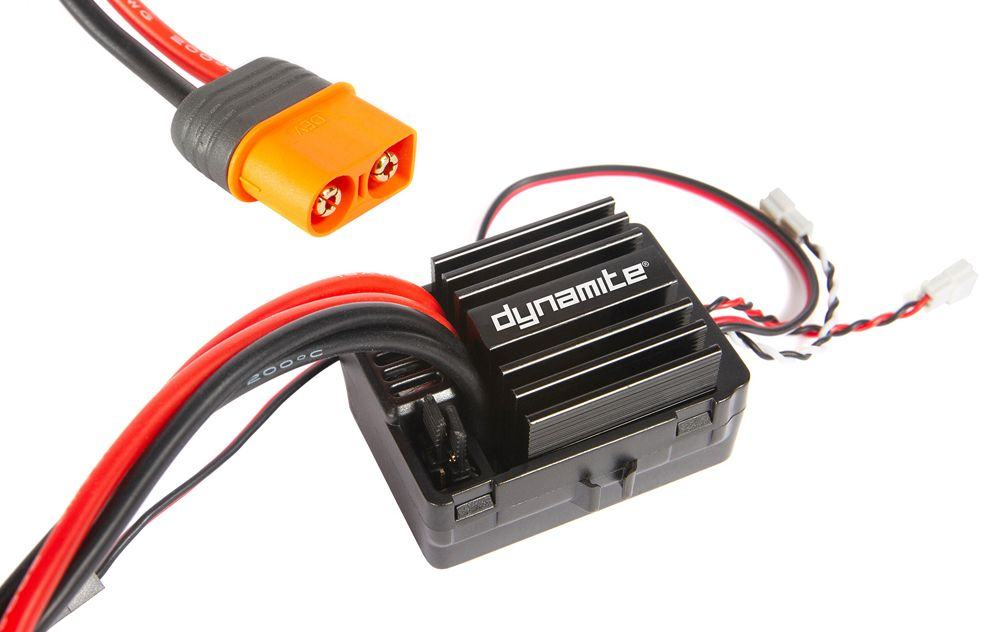 DYNAMITE AE-5L ESC W/ DRAG BRAKE, WATERPROOF