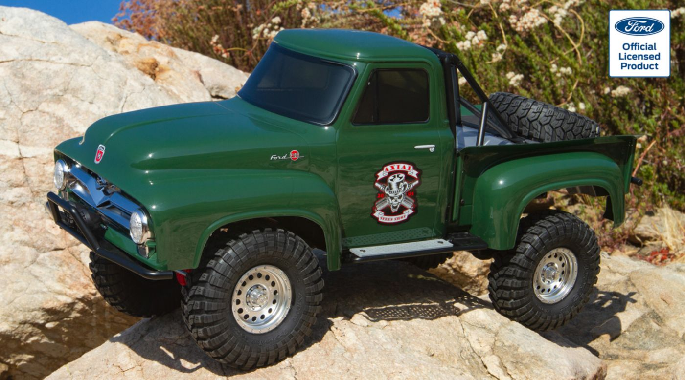 Image for 1/10 SCX10 II 1955 Ford F-100 Truck 4WD RTR, Green from HorizonHobby