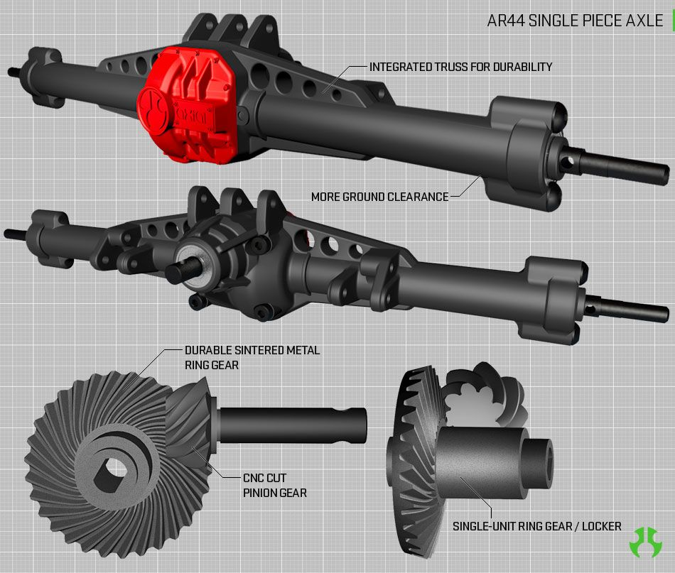 AR44 SINGLE PIECE AXLES