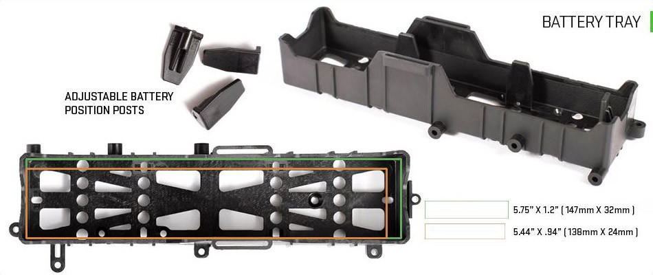 ADJUSTABLE BATTERY TRAY