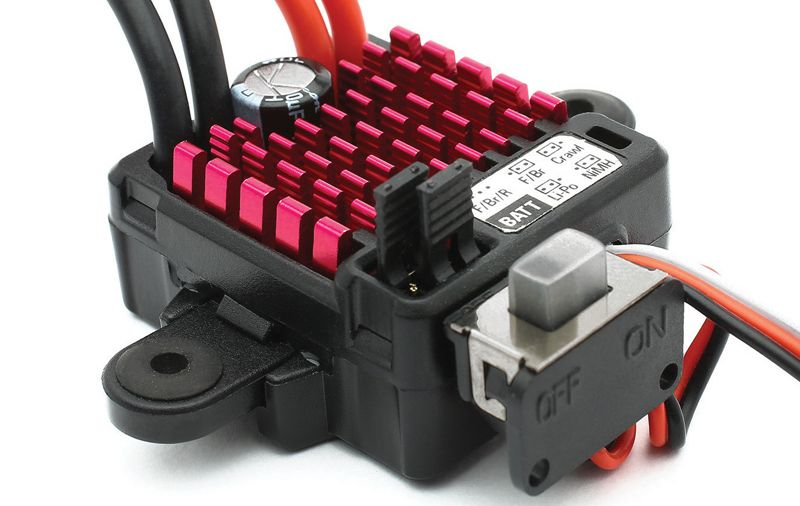 DYNAMITE 60A FWD/REV BRUSHED ESC, WATERPROOF