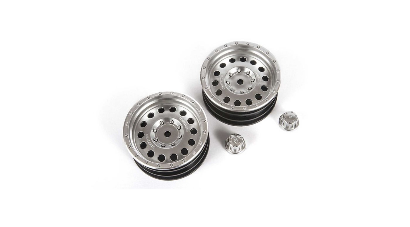Image for 1/10 Method MR307 Hole 1.9 Wheels, 12mm Hex, Satin Silver (2) from HorizonHobby