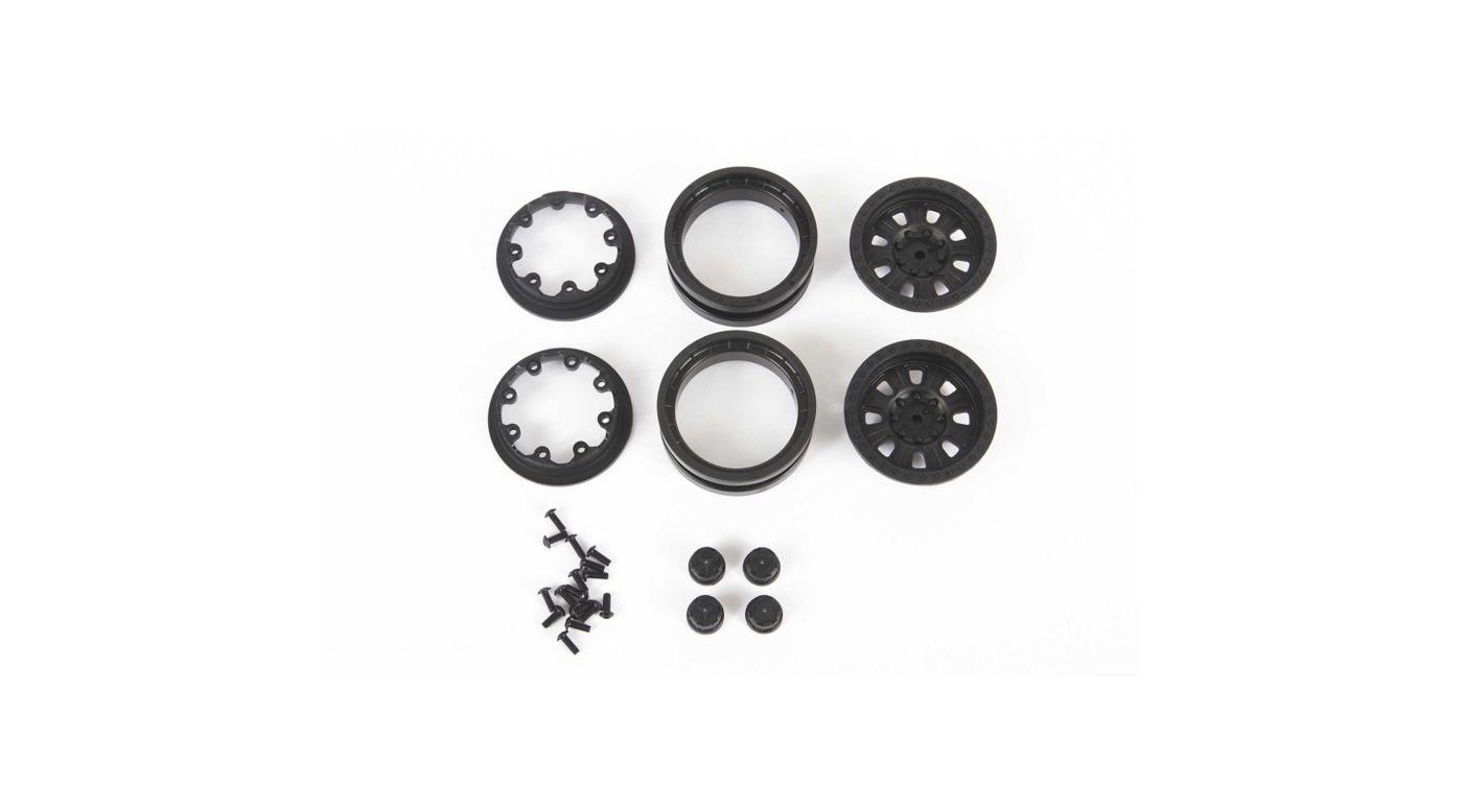 Image for 1.9 Raceline Monster Beadlock Wheels, Black (2) from HorizonHobby