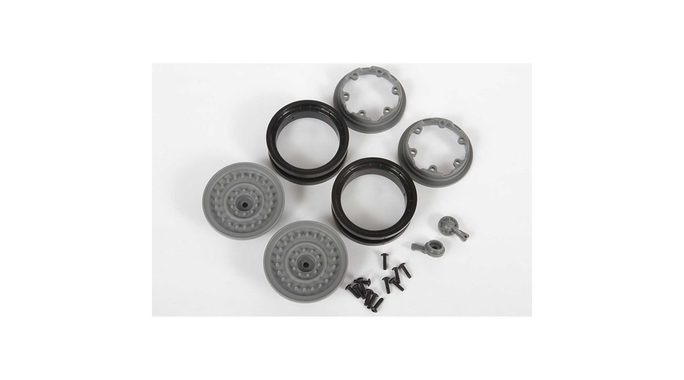 Image for 1/10 MW19 1.9 Beadlock Wheels, 12mm Hex, Gray (2) from HorizonHobby