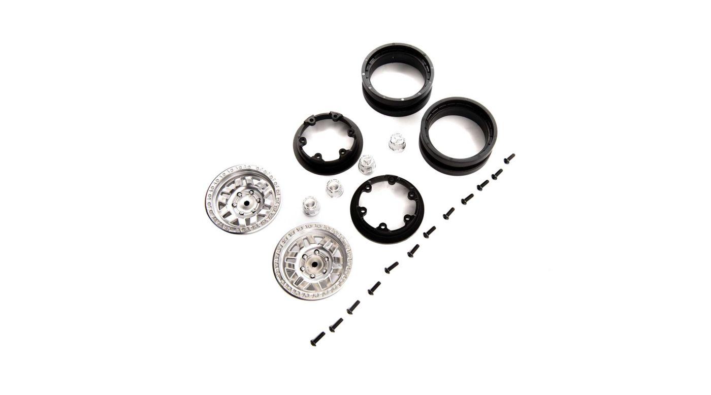 Image for 1.9 KMC Machete Beadlock Wheels, Satin (2) from HorizonHobby