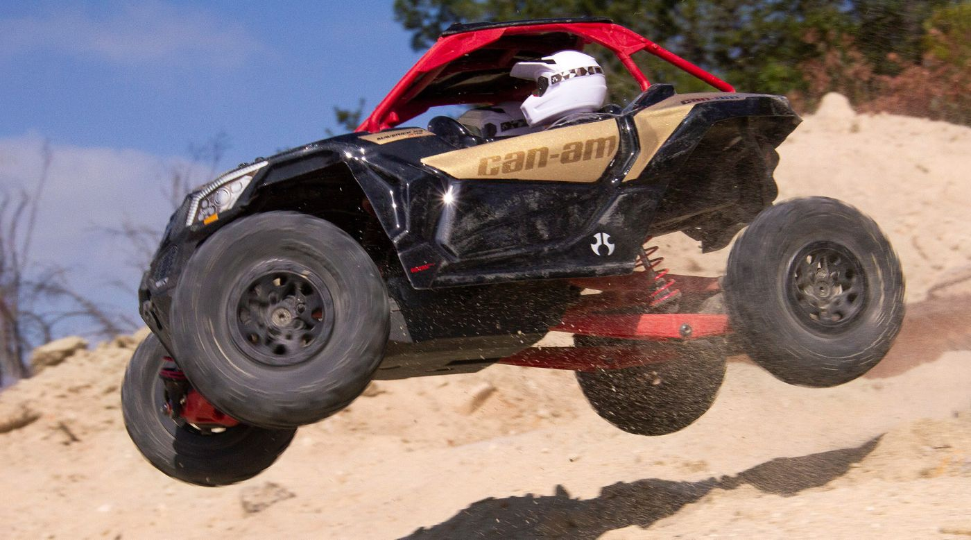 Axial 1/18 Yeti Jr  Can-Am Maverick 4WD Brushed RTR | Horizon Hobby