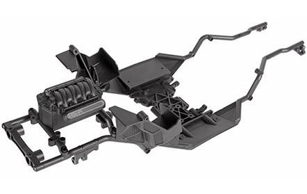Stabiles Rohrrahmen-Chassis mit vorverlegter Akkuposition