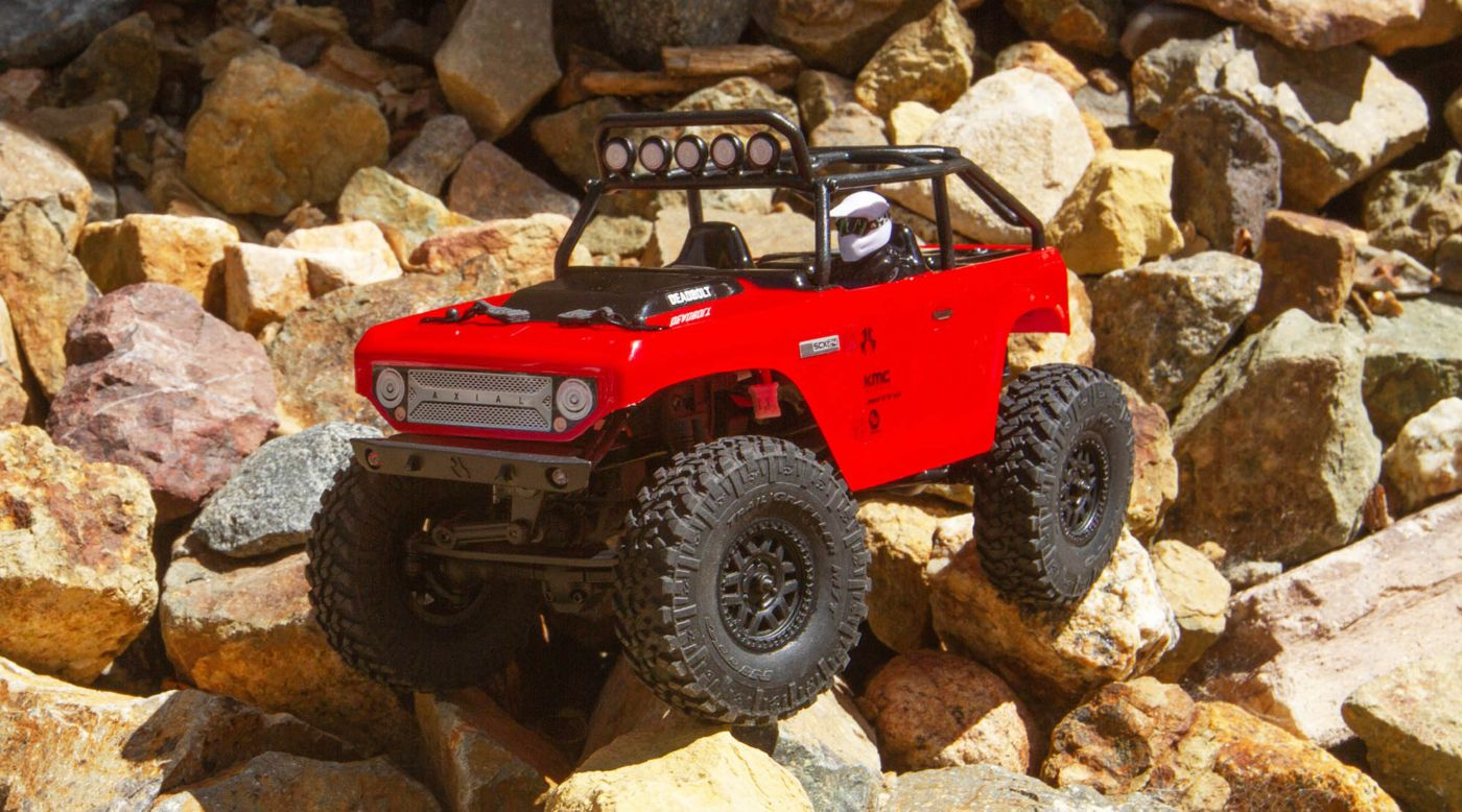 Image for 1/24 SCX24 Deadbolt 4WD Rock Crawler Brushed RTR, Red from HorizonHobby