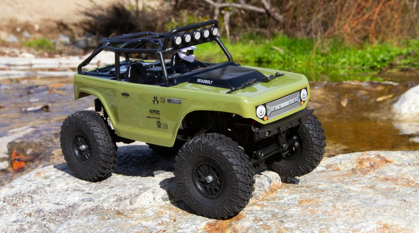 Image for 1/24 SCX24 Deadbolt 4WD Rock Crawler Brushed RTR, Green from HorizonHobby
