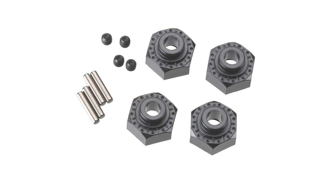 Image for Aluminum Hex Hub 12mm Black (4) from HorizonHobby