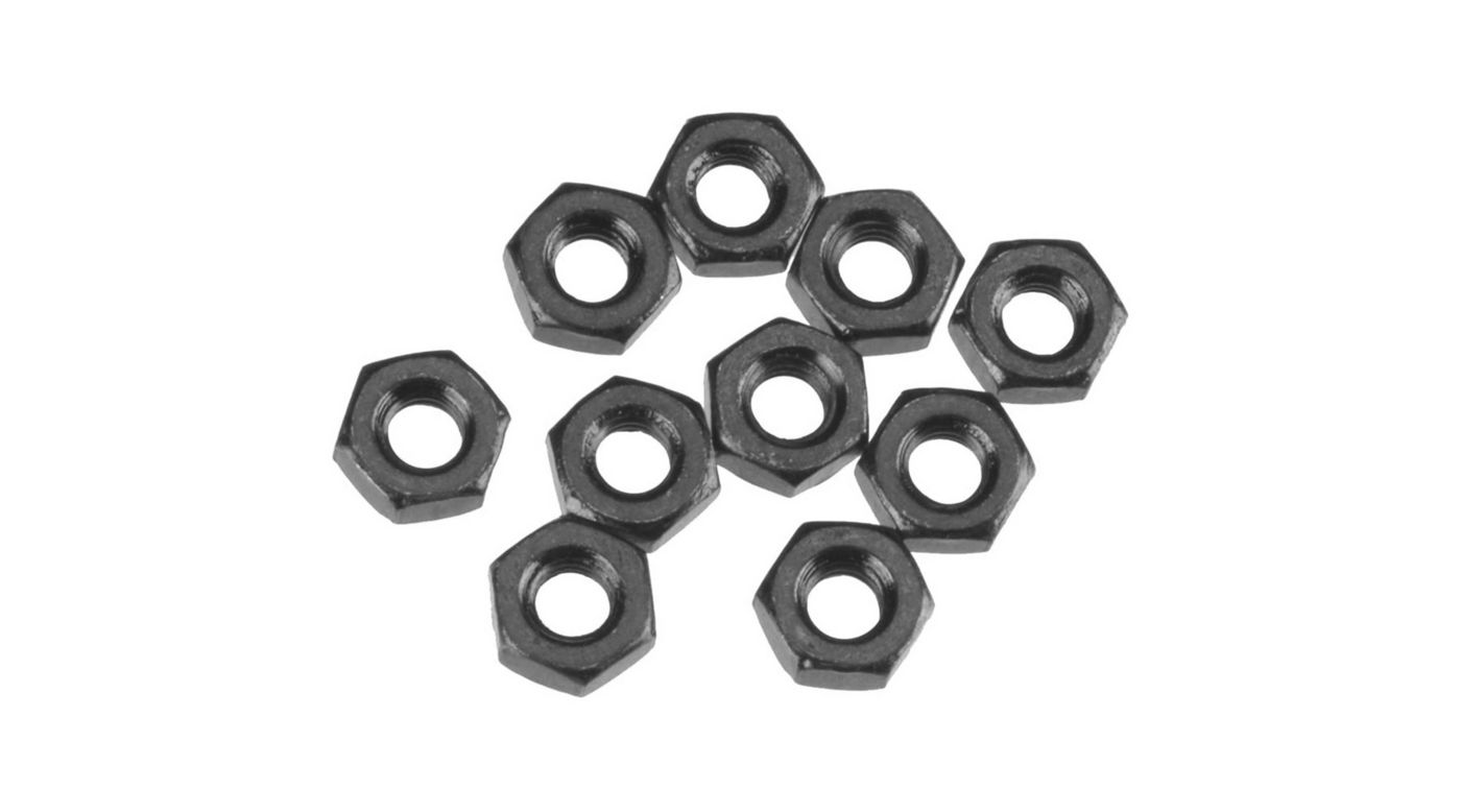 Image for Thin Hex Nut M3 Black (10) from HorizonHobby