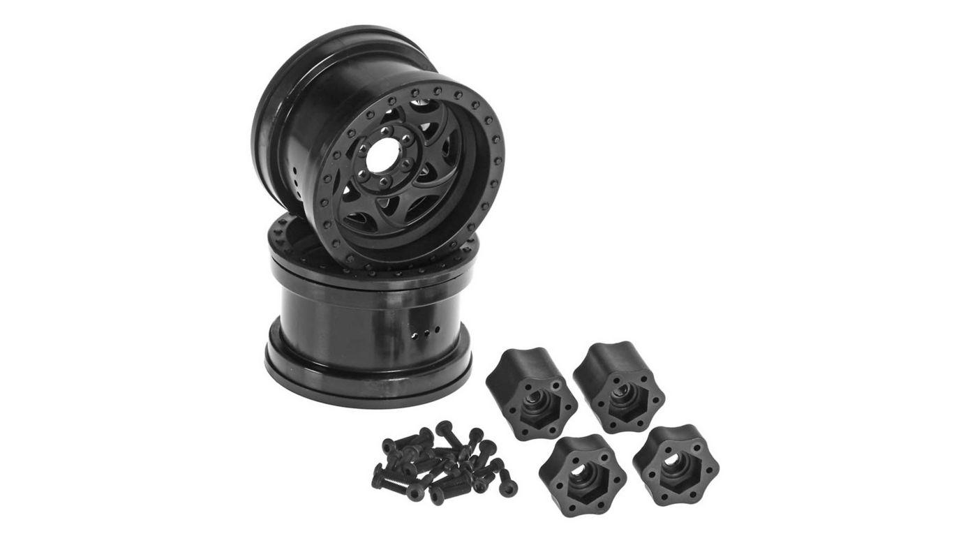 Image for 1/10 2.2 Walker Evans Wheels, 12mm Hex, Black (2) from HorizonHobby