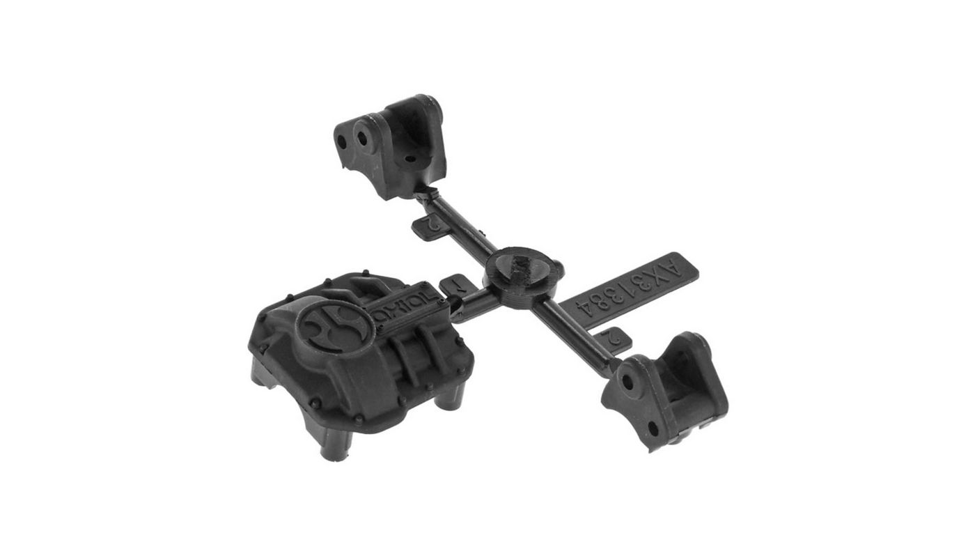 Image for AR44 Diff Cover & Link Mounts Black from HorizonHobby