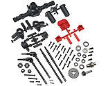 Axial - AR44 Locked Axle Set Front Rear Complete