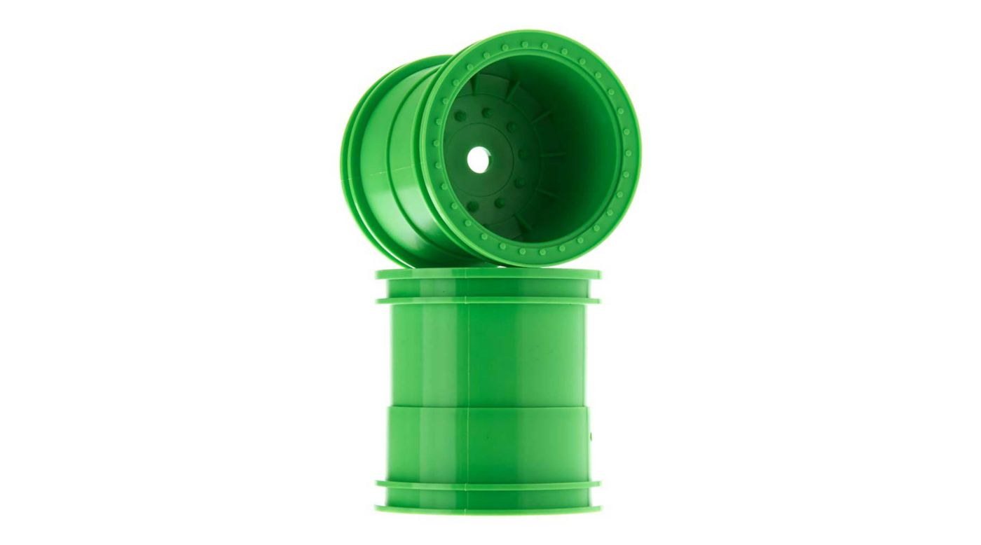 Image for 1/10 2.2 Monster Truck Wheels, 12mm Hex, Green (2) from HorizonHobby
