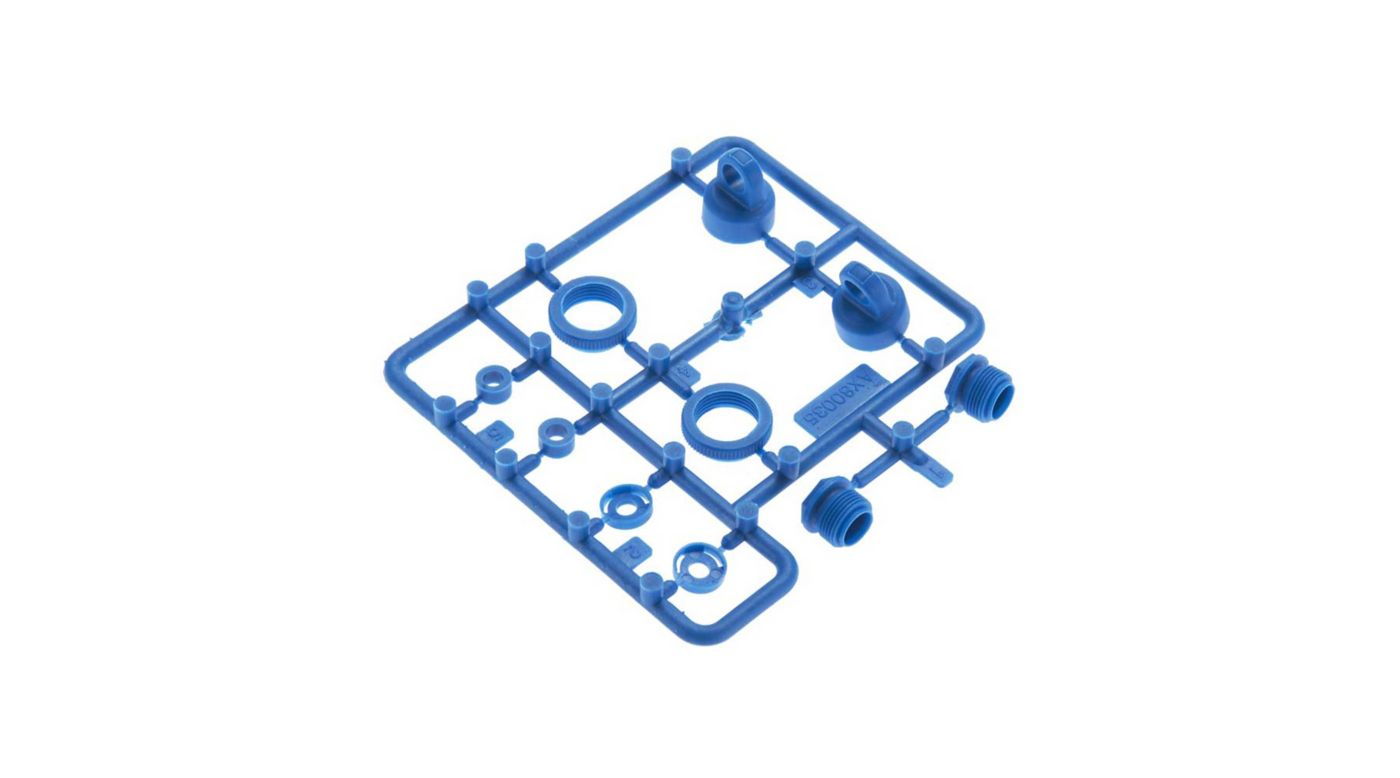 Image for 10mm Shock Caps Parts Tree Blue from HorizonHobby
