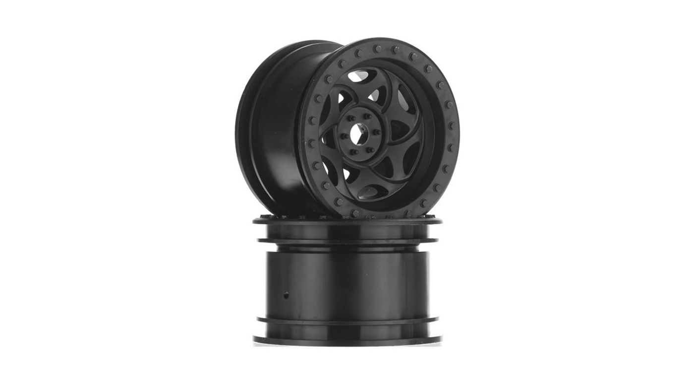 Image for 2.2 Walker Evans Wheels Black (2) from HorizonHobby