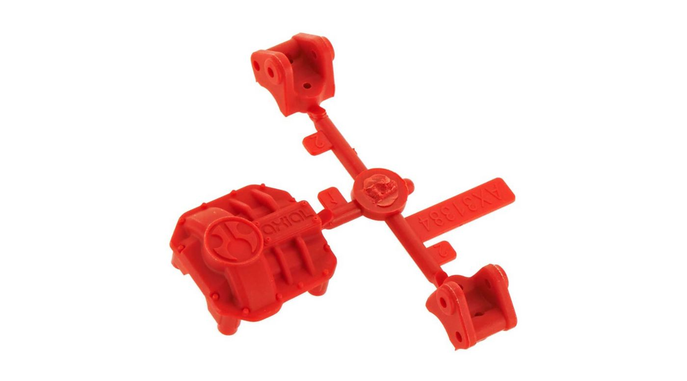 Image for AR44 Differential Cover Link Mounts Red from HorizonHobby