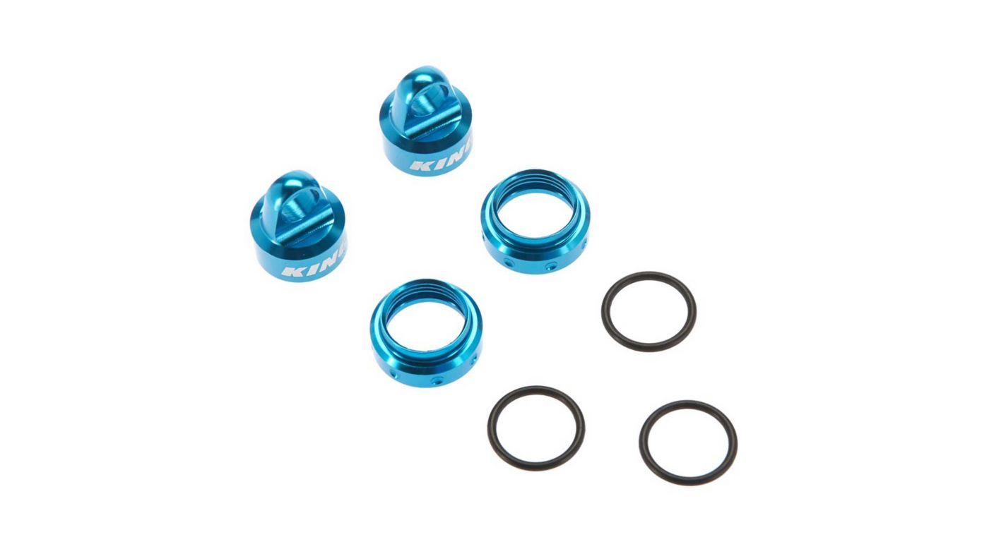 Image for King Shocks Aluminum Caps Collar Set 12mm Blue from HorizonHobby