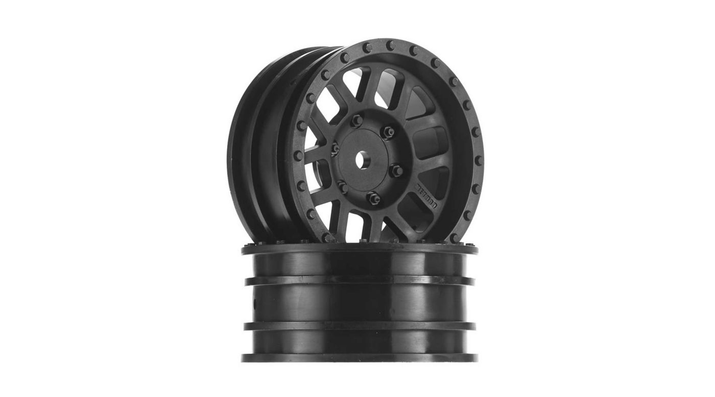 Image for 1/10 1.9 Method Mesh Wheels, 12mm Hex, Black (2) from HorizonHobby