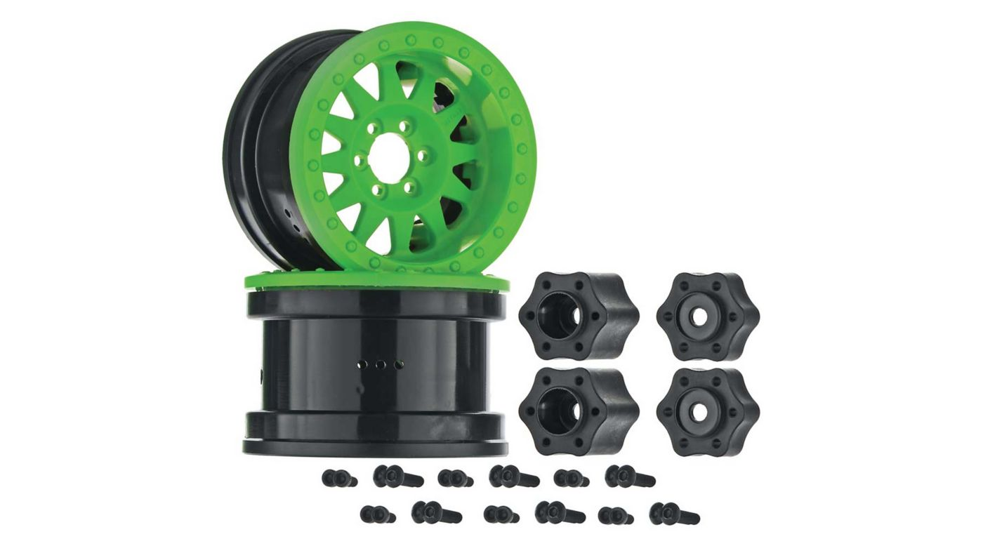 Image for 2.2 Method Beadlock Wheel IFD Green (2) from HorizonHobby