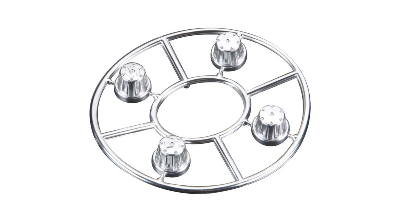 Image for Hub Cover Set Satin Chrome (4) from HorizonHobby