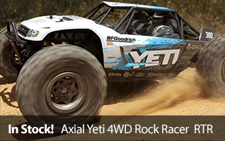 Axial 1/10 Yeti 4WD Rock Racer Brushless RTR AXID9026