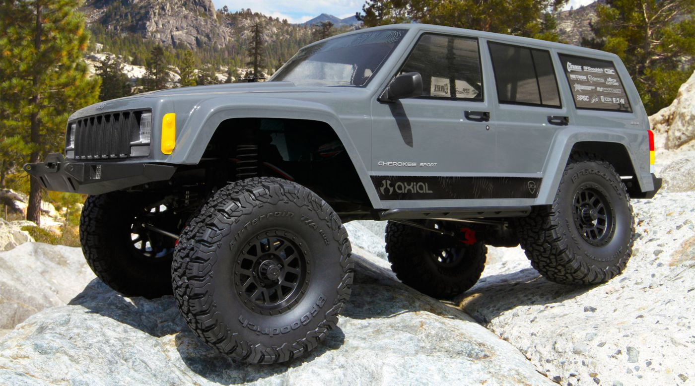 Image for 1/10 SCX10 II Jeep Cherokee Brushed Rock Crawler 4WD RTR from Horizon Hobby