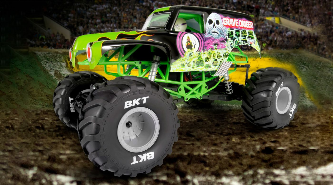 Image for 1/10 SMT10 Grave Digger Brushed Monster Jam Truck 4WD RTR from HorizonHobby