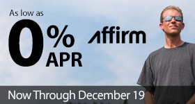 As low as 0% APR financing with Affirm now available through December 19