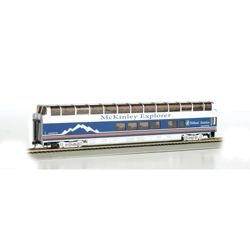 Bachmann 13348 HO Colorado Railcar 89' Full-Dome Series Denali Princess #7088 Blackburn A Car