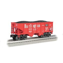 Bachmann 19559 N USRA 55-Ton 2-Bay Open Hopper w/ Load Chicago Burlington & Quincy