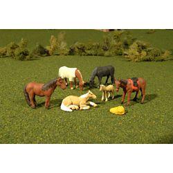 Bachmann 33169 O Animals Horses Pkg 6