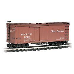 Bachmann 93301 G Wood Boxcar Denver & Rio Grande Western