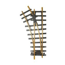 Bachmann 94659 G Code 332 Brass #1100 Manual Turnout Left Hand 4' Diameter 30 Degree Diverging Route