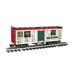 Bachmann 98704 G Animated Stock Car w/Reindeer North Pole & Southern #1225