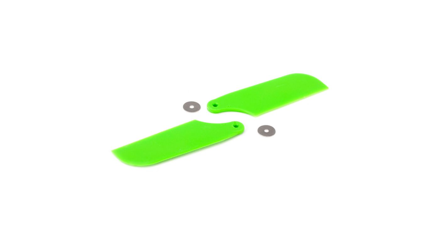 Image for Tail Rotor Blade Set, Green: B450 3D, B400, B450 X from HorizonHobby